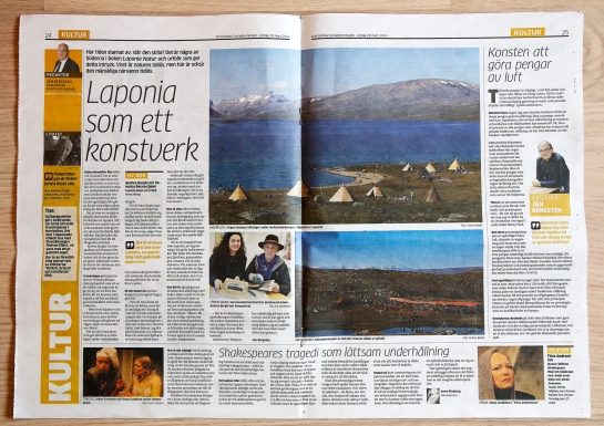 NSD article- LAPONIA- Nature and Natives 29 March 2014